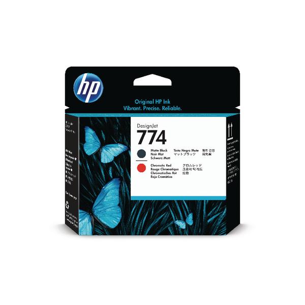 Inkjet Cartridges HP 774 Matte Black and Chromatic Red Printhead P2V97A