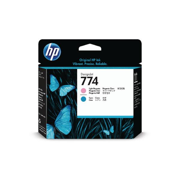 Inkjet Cartridges HP 774 Light Magenta and Light Cyan Printhead P2V98A