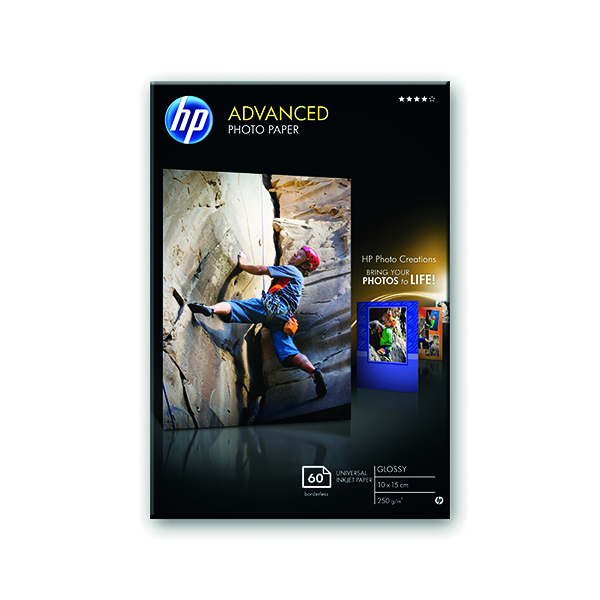HP White 10x15cm Advanced Glossy Photo Paper (25 Pack) Q8691A