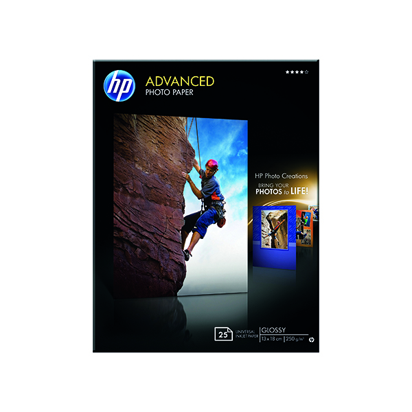 HP White 13x18cm Advanced Glossy Photo Paper (25 Pack) Q8696A