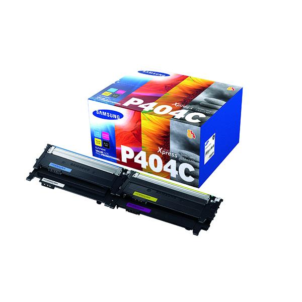 MultiColour Samsung CLT-P404C CMYK Standard Yield Toner Cartridges (4 Pack) SU364A