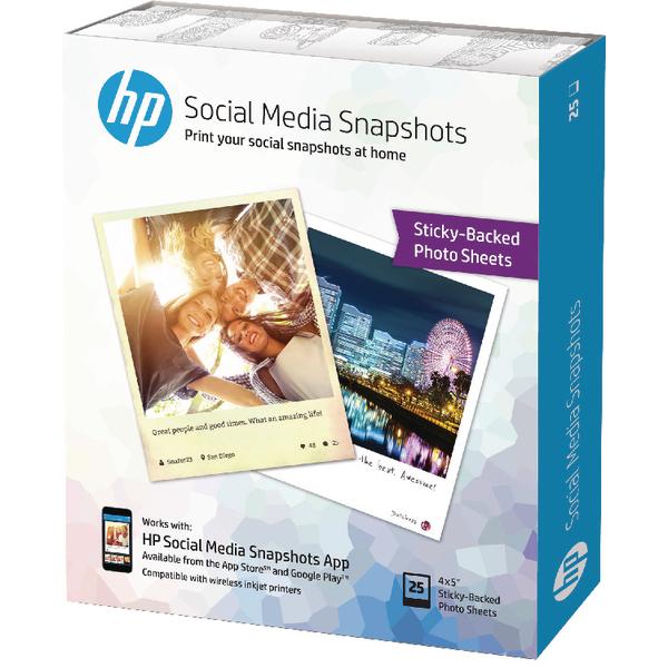 HP Social Media Snapshots 10x13cm (25 Pack) W2G60A