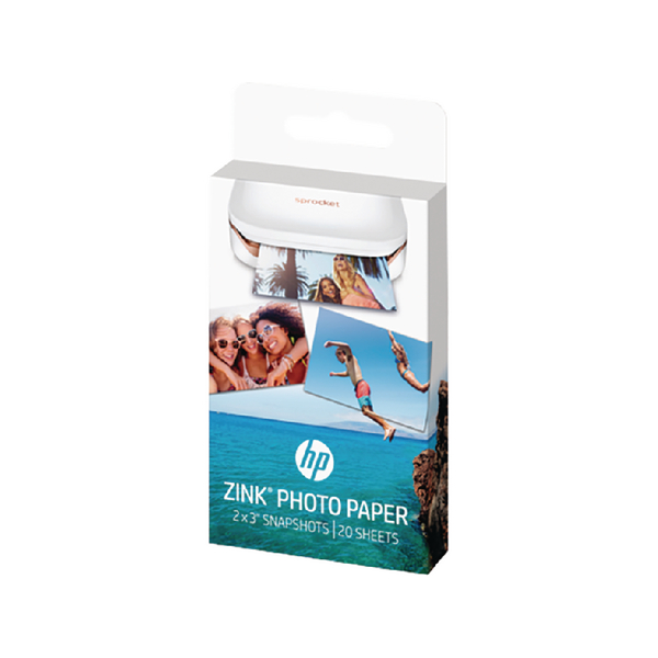 HP ZINK Sticky Backed Photo Paper (20 Pack) W4Z13A
