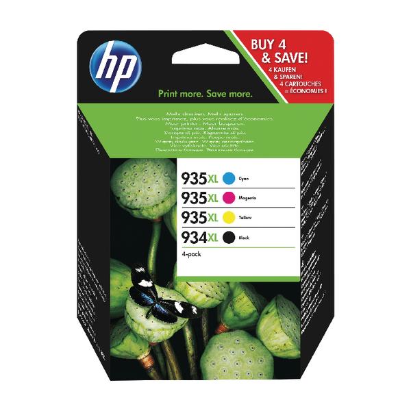 MultiColour HP 934XL and 935XL High Yield CMYK Original Ink Cartridges (4 Pack) X4E14AE