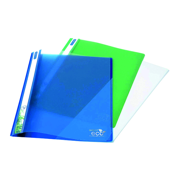 Rapesco Eco PP Report File A4 Asorted (10 Pack) 1099