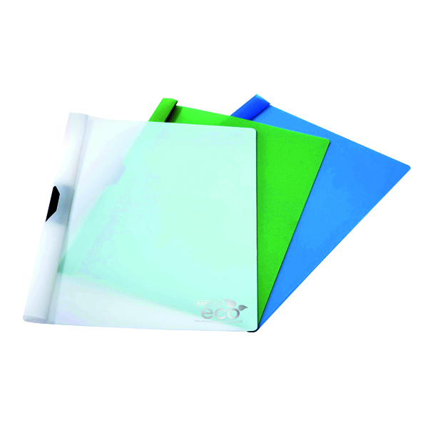 A4 Rapesco Eco PP Clip File Assorted (10 Pack) 1100