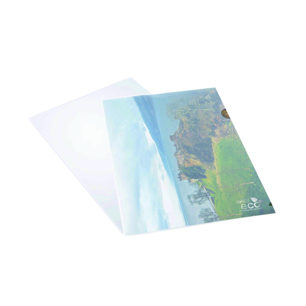 A4 Rapesco Eco Cut Flush Folders A4 Clear (100 Pack) 1105