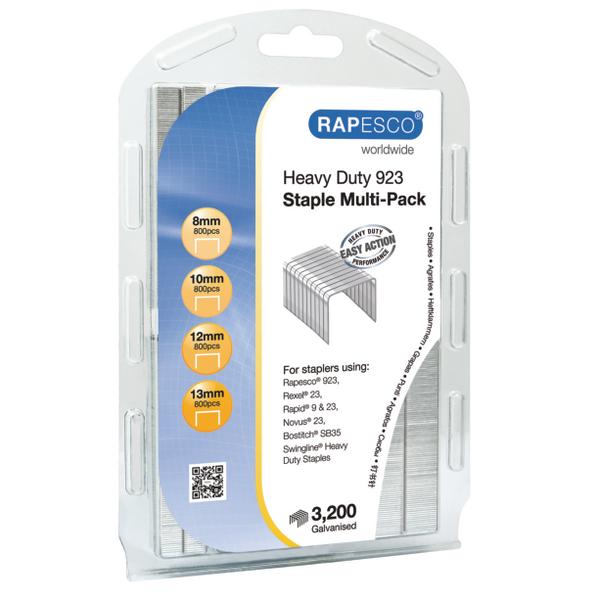 Rapesco 923 Staple Multi Pack Galvanised Staples