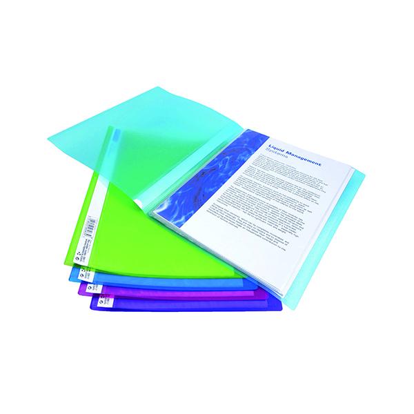 Rapesco Flexi Display Book 20 Pocket A4 Bright Assorted (10 Pack) 0916