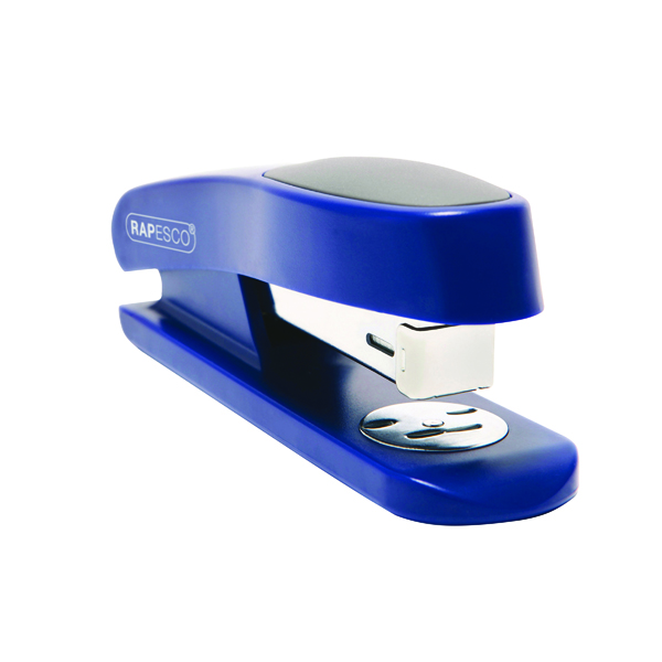 Desktop Staplers Rapesco Sting Ray Half Strip Stapler Blue R72660L3