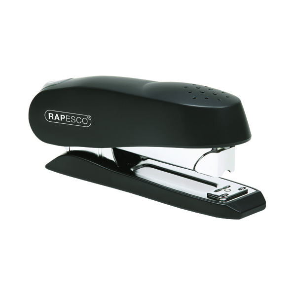 Desktop Staplers Rapesco Luna Heavy Duty Black Half Strip Stapler 0238
