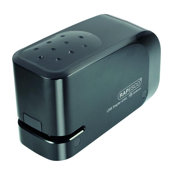 Rapesco 626EL USB Electric Stapler Black 1454