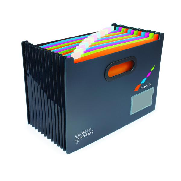 1-31 Pocket Rapesco Germ-Savvy A4 13 Part Desktop Expanding File w/Dividers 1489