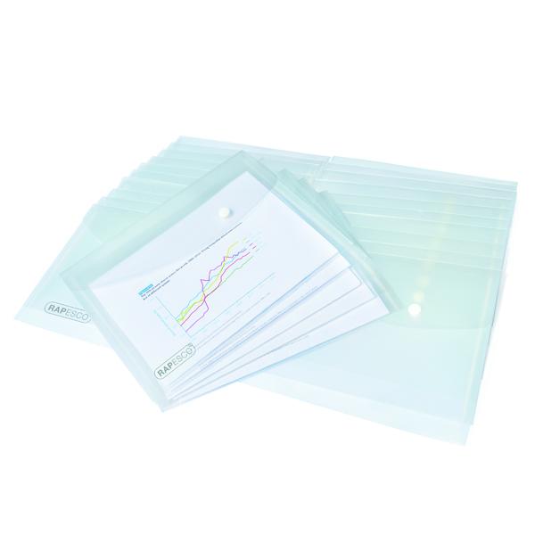 A5 Rapesco Popper Wallet A5 Clear (25 Pack) 1500