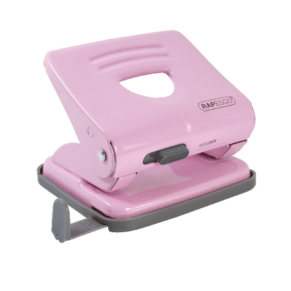 Rapesco 825 2 Hole Metal Punch Candy Pink 1358