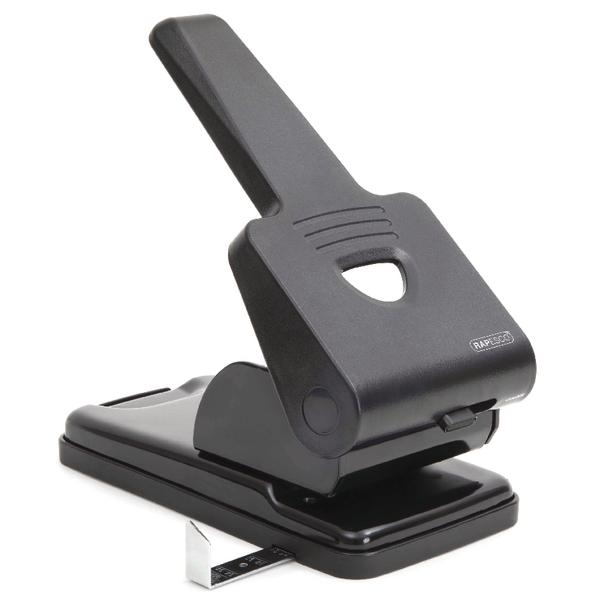 2Hole Rapesco 865-P Heavy Duty Hole Punch Black PF865PB2
