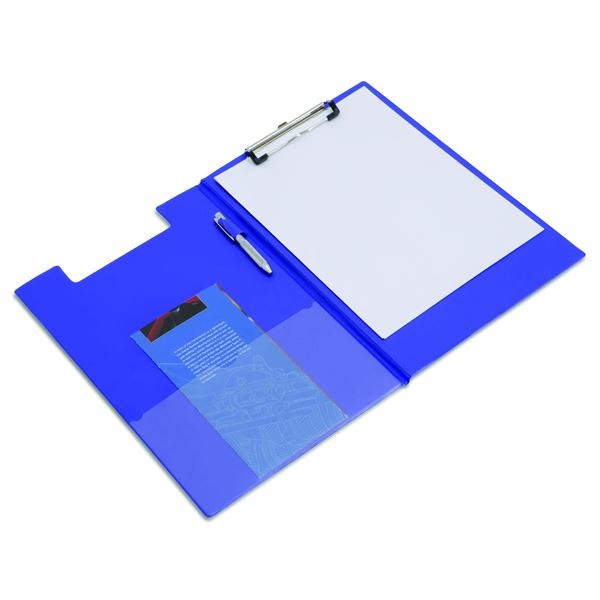 Rapesco Foldover Clipboard Foolscap Blue VFDCB0L3