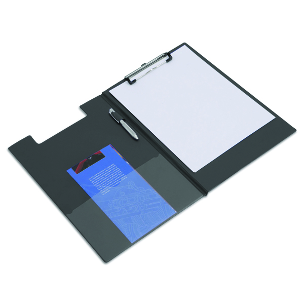 Foolscap (Legal) Rapesco Foldover Clipboard Foolscap Black VFDCB0L3