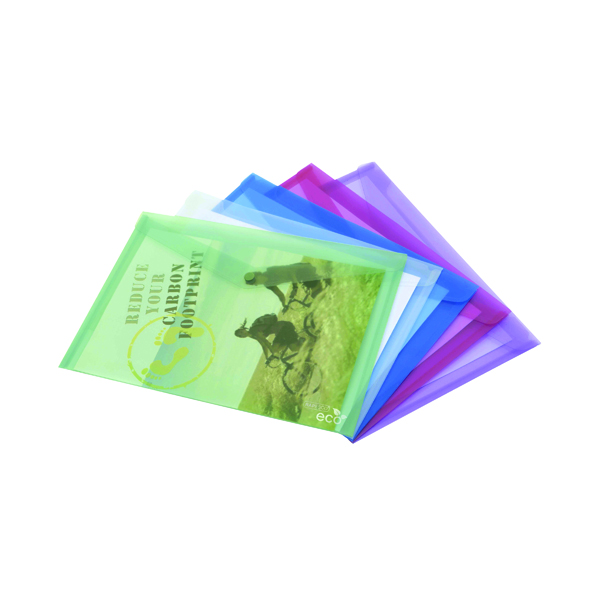 A4 Rapesco ECO Popper Wallet A4 Plus Assorted (5 Pack) 1039
