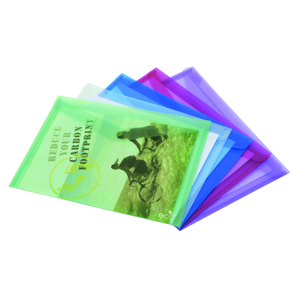 Foolscap Rapesco Eco PP Popper Wallet A3 Assorted (5 Pack) 1041