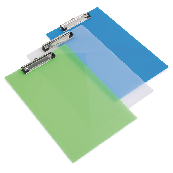 Unspecified Rapesco Clipboard Frosted Transparent Assorted (10 Pack) SHP PCBAS