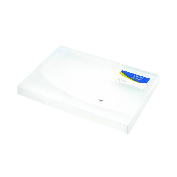 Rapesco Rigid Wallet Box File 25mm A4 Clear 0708