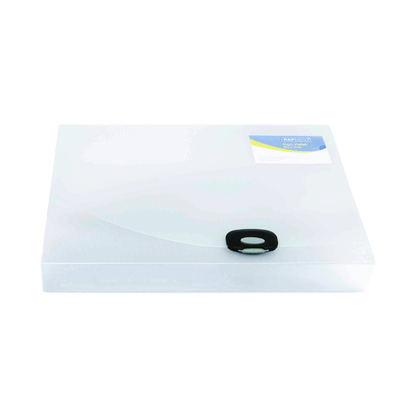 A4 Size Rapesco Rigid Wallet Box File 40mm A4 Clear 0711