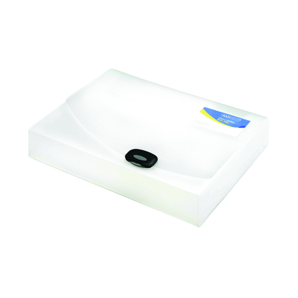 Rapesco Rigid Wallet Box File 60mm A4 Clear 0714