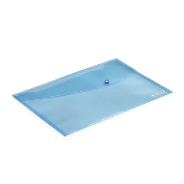 Foolscap Rapesco Popper Wallet Foolscap Pastel Blue (5 Pack) 0691