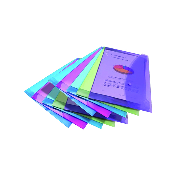 Rapesco Foolscap Assorted Popper Wallet (5 Pack) 3 For 2 HT810931