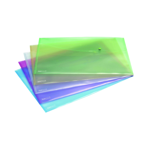 A3 Rapesco Popper Wallet A3 Pastel Assorted (5 Pack) 0697