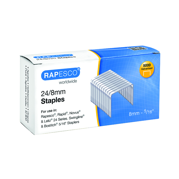 8mm Rapesco 24/8mm Staples (5000 Pack) S24802Z3