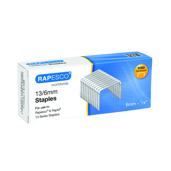 6mm Rapesco 13/6mm Staples (5000 Pack) S24602Z6