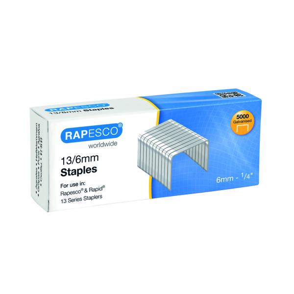 Rapesco 13/6mm Staples (5000 Pack) S24602Z6