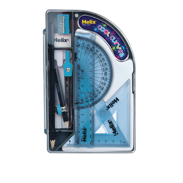 Unspecified Helix Cool Curves Maths Set (8 Pack) HX3595