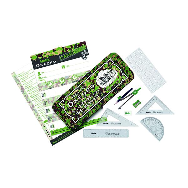 Oxf Camo Maths Set Green Cdu (10 Pack) 170508