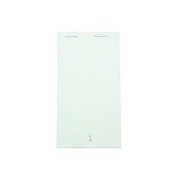 White Duplicate Service Pad Small (50 Pack) Pad 20