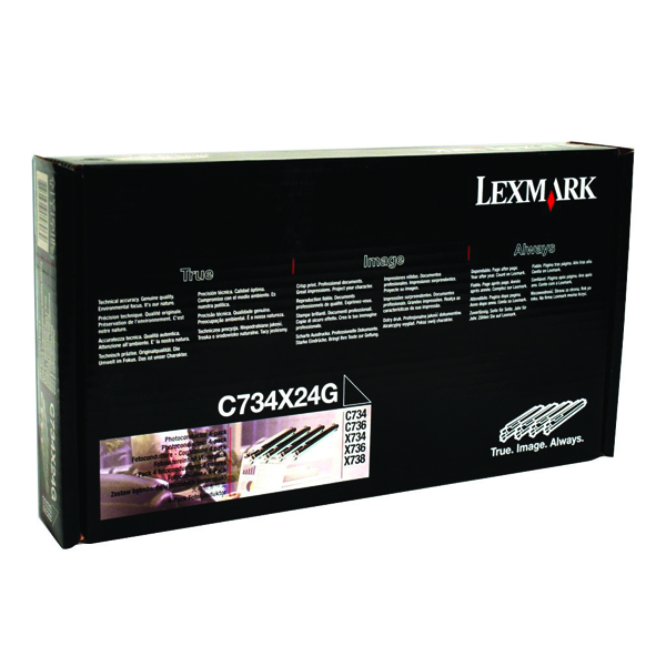 Lexmark Black/Colour C734 Photoconductor Unit (4 Pack) C734X24G