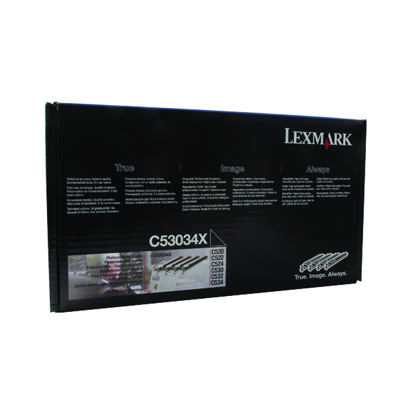 Lexmark Black/Colour C53X Photoconductor Unit (4 Pack) C53034X