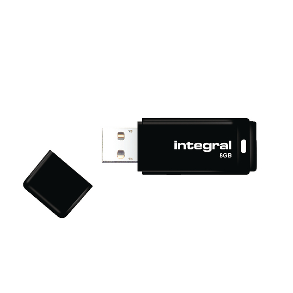 Unspecified Integral Black USB 2.0 8Gb Flash Drive INFD8GBBLK