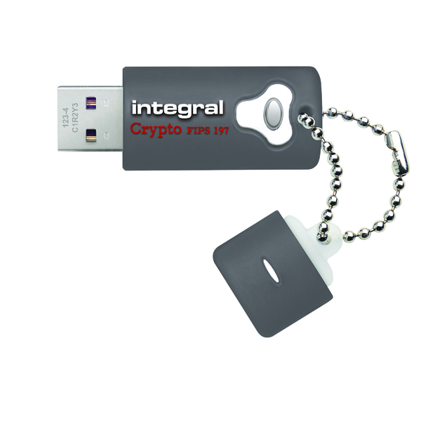 Integral Crypto Encrypted USB 3.0 32GB Flash Drive INFD32GCRY3.0197