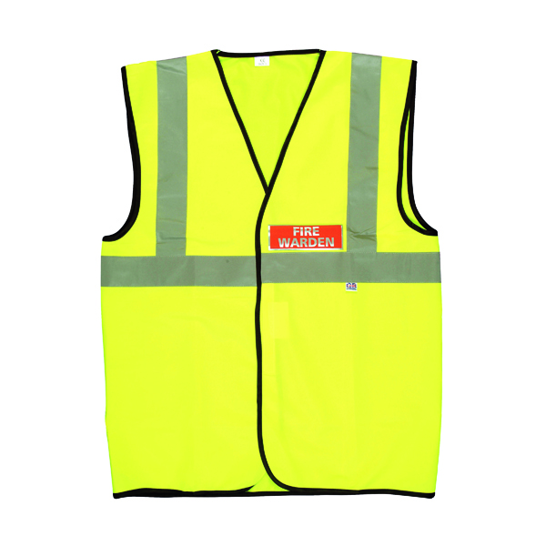 Bodywarmers Fire Warden Vest High Visibility XL Yellow IVGFVW