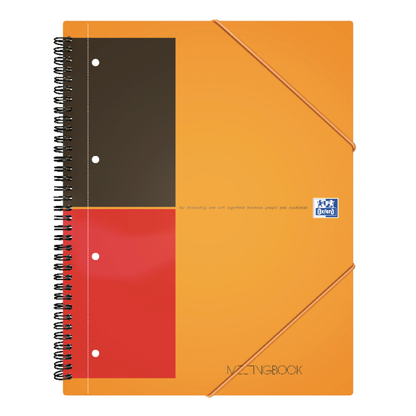 Unspecified Oxford International Meeting A4 Notebook Plus Wirebound 160 Pages 3 for 2 JD00170