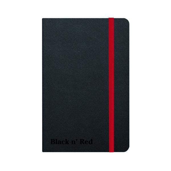 Black n' Red Casebound Hardback Notebook A6 Black 400033672