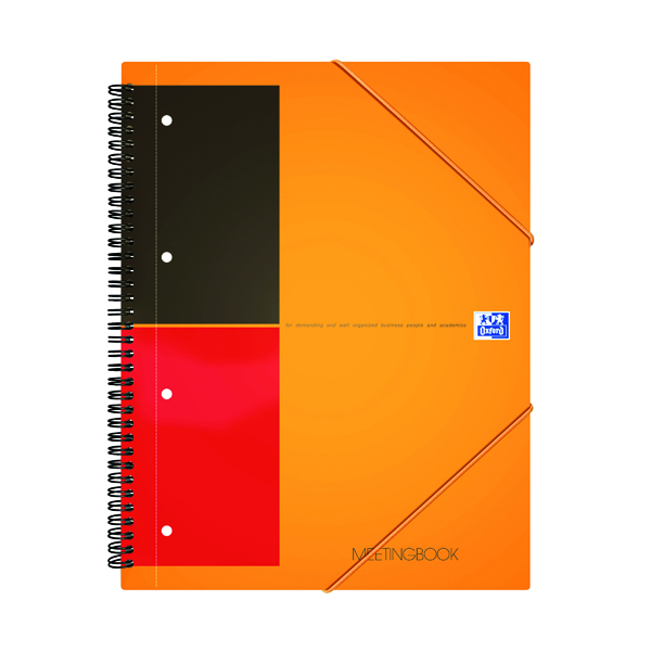 Unspecified Oxford International A4 Plus Wirebound Polypropylene Meeting Book 100104296