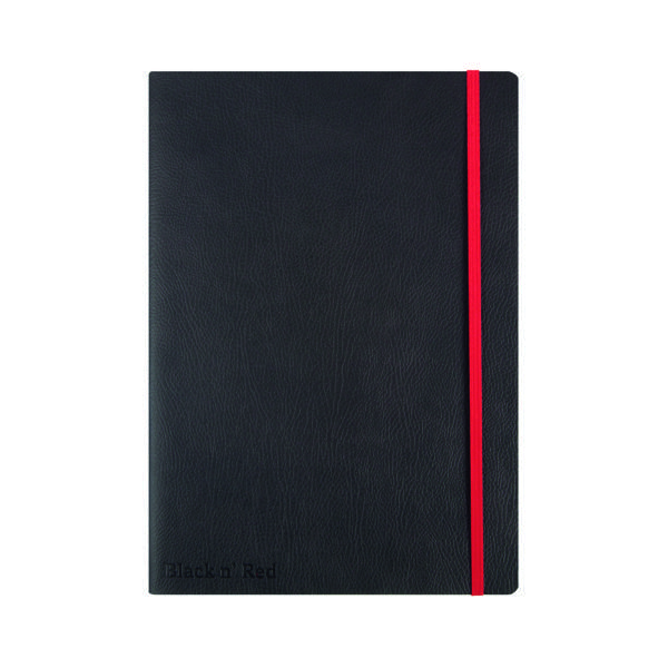 Ruled Black n' Red Soft Cover Notebook B5 Black 400051203