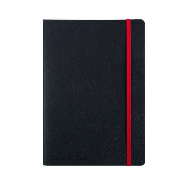 Ruled Black n' Red Soft Cover Notebook A5 Black 400051204