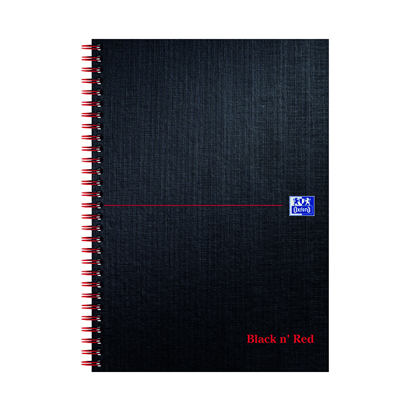 Black n' Red Ruled Wirebound Notebook 140 Pages B5 (5 Pack) JD31641