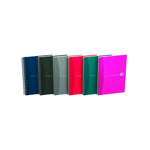 A5 Oxford Card Cover Wirebound Notebook A5 Assorted (5 Pack) 100103741