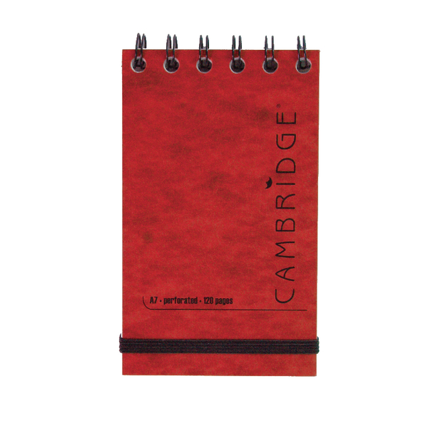 Other Cambridge Elasticated Red Notebook 76 x 127mm (10 Pack) 100080421